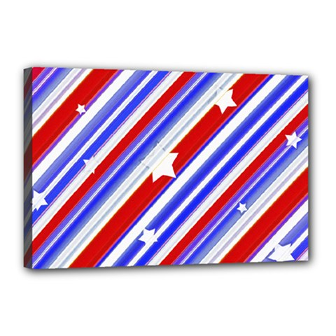 American Motif Canvas 18  x 12  (Framed)
