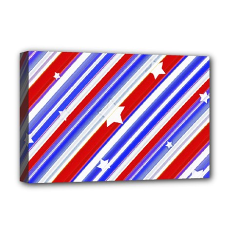 American Motif Deluxe Canvas 18  X 12  (framed)