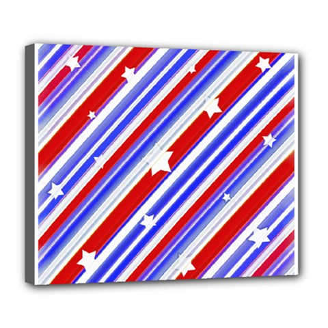 American Motif Deluxe Canvas 24  x 20  (Framed)