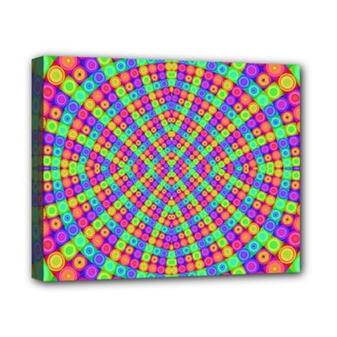 Many Circles Canvas 10  x 8  (Framed)