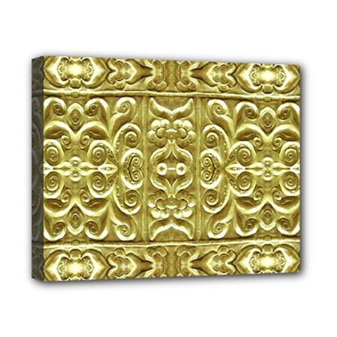 Gold Plated Ornament Canvas 10  x 8  (Framed)