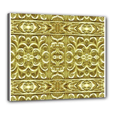 Gold Plated Ornament Canvas 24  x 20  (Framed)