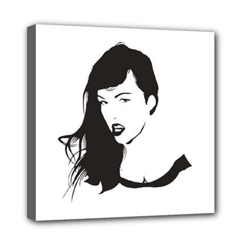 Pin Up Mini Canvas 8  x 8  (Framed)