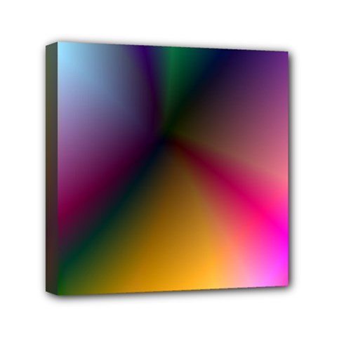 Prism Rainbow Mini Canvas 6  X 6  (framed)