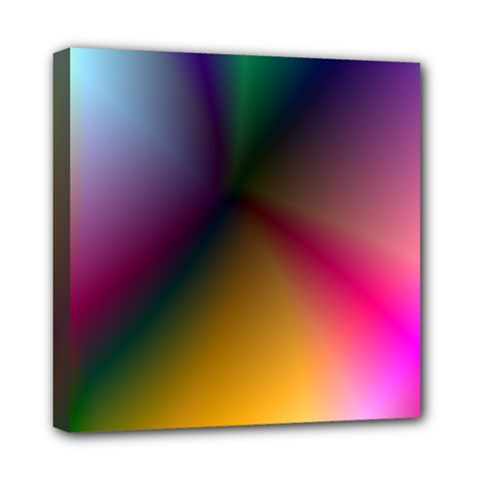 Prism Rainbow Mini Canvas 8  x 8  (Framed)