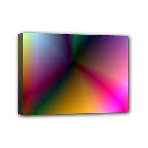 Prism Rainbow Mini Canvas 7  x 5  (Framed)