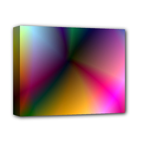Prism Rainbow Deluxe Canvas 14  x 11  (Framed)