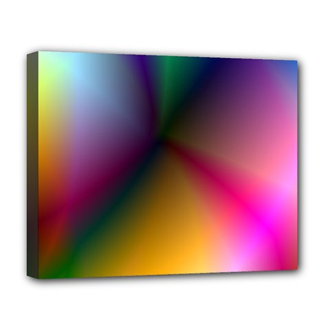 Prism Rainbow Deluxe Canvas 20  X 16  (framed)