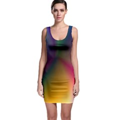 Abstract Dawning Bodycon Dress