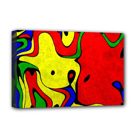 Abstract Deluxe Canvas 18  x 12  (Framed)