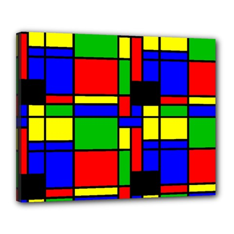Mondrian Canvas 20  X 16  (framed)