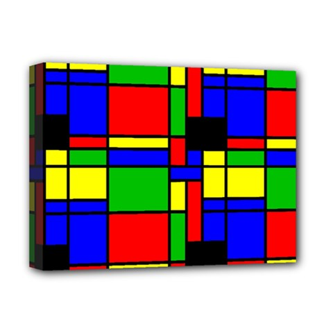 Mondrian Deluxe Canvas 16  X 12  (framed)