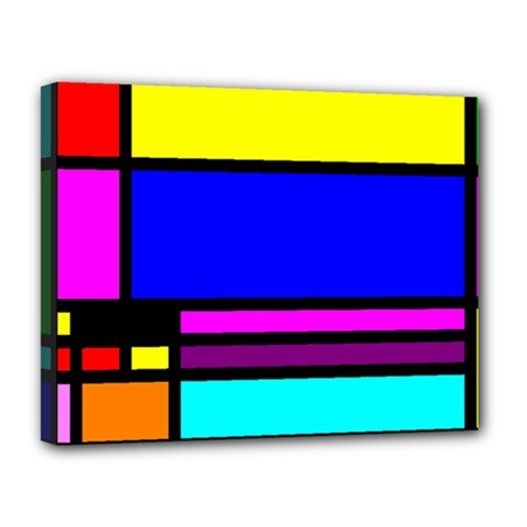 Mondrian Canvas 14  X 11  (framed)