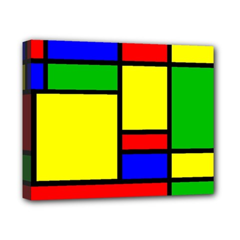 Mondrian Canvas 10  x 8  (Framed)
