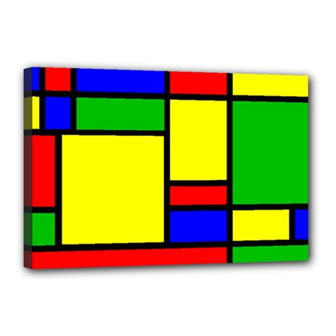 Mondrian Canvas 18  X 12  (framed)