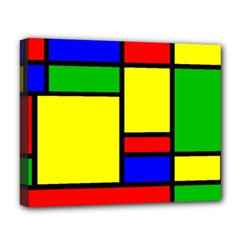 Mondrian Deluxe Canvas 20  X 16  (framed)