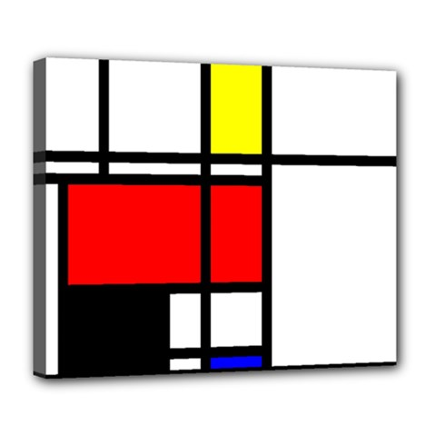 Mondrian Deluxe Canvas 24  x 20  (Framed)