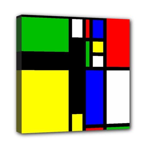 Abstrakt Mini Canvas 8  x 8  (Framed)