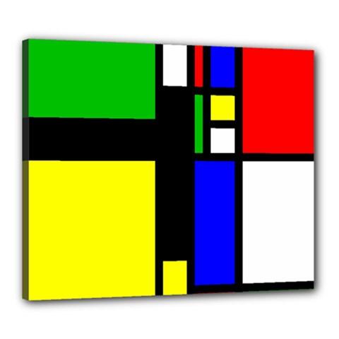 Abstrakt Canvas 24  x 20  (Framed)