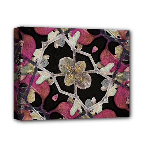 Floral Arabesque Decorative Artwork Deluxe Canvas 14  X 11  (framed)
