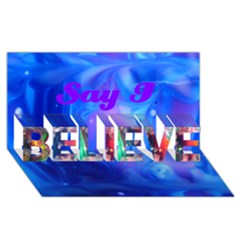 Wings And At Night Believe 3d Greeting Card (8x4) By Saprillika