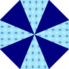 Anchors in Blue and White Folding Umbrella