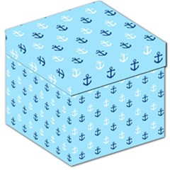 Anchors In Blue And White Storage Stool 12