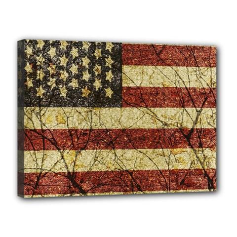 Vinatge American Roots Canvas 16  x 12  (Framed)
