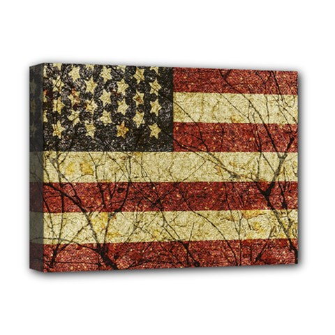 Vinatge American Roots Deluxe Canvas 16  x 12  (Framed)