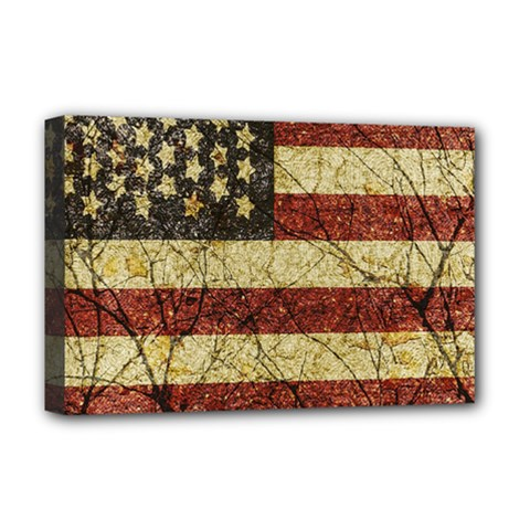 Vinatge American Roots Deluxe Canvas 18  x 12  (Framed)