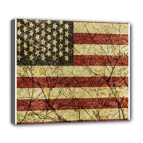 Vinatge American Roots Deluxe Canvas 24  X 20  (framed)