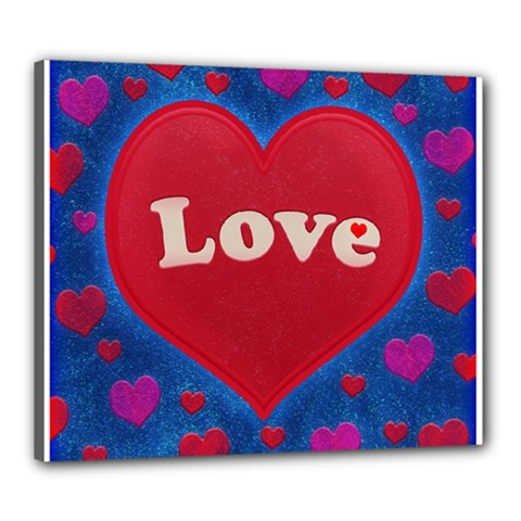 Love theme concept  illustration motif  Canvas 24  x 20  (Framed)