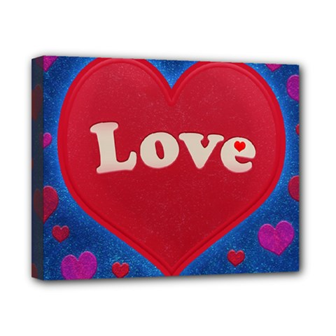 Love theme concept  illustration motif  Canvas 10  x 8  (Framed)