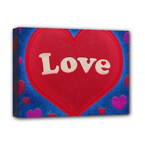 Love theme concept  illustration motif  Deluxe Canvas 16  x 12  (Framed)