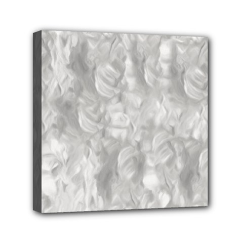 Abstract In Silver Mini Canvas 6  X 6  (framed)