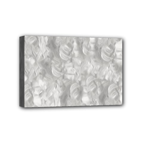Abstract In Silver Mini Canvas 6  x 4  (Framed)