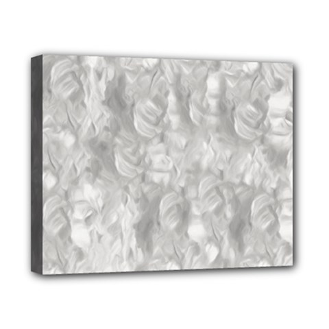 Abstract In Silver Canvas 10  x 8  (Framed)