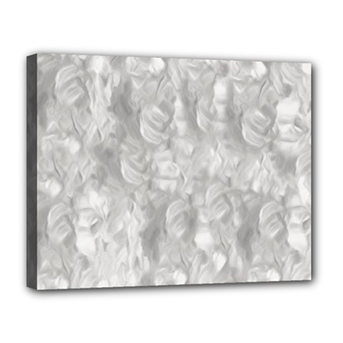 Abstract In Silver Canvas 14  x 11  (Framed)