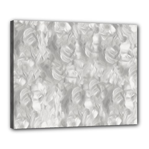 Abstract In Silver Canvas 20  x 16  (Framed)