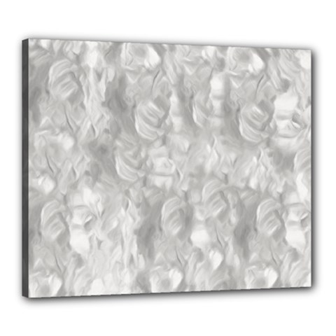 Abstract In Silver Canvas 24  X 20  (framed)