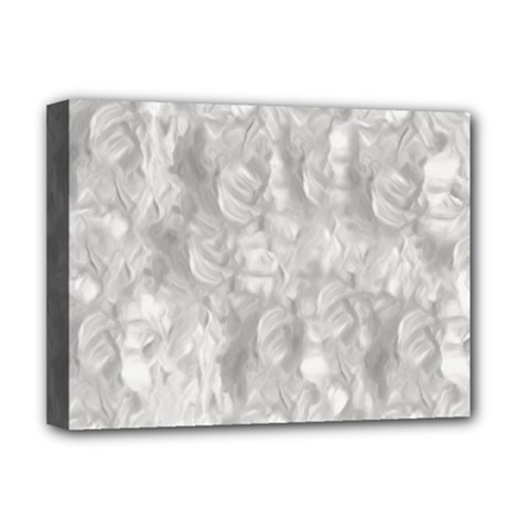 Abstract In Silver Deluxe Canvas 16  x 12  (Framed)