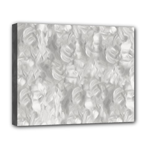 Abstract In Silver Deluxe Canvas 20  X 16  (framed)