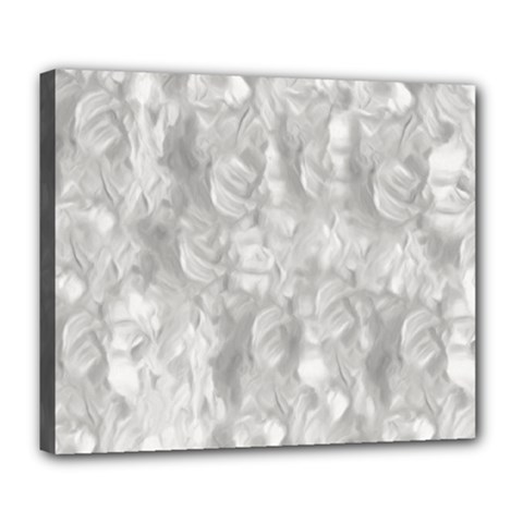 Abstract In Silver Deluxe Canvas 24  X 20  (framed)