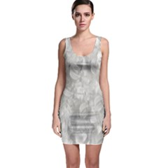 Elegant Silvery Abstract Bodycon Dress
