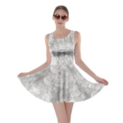 Elegant Silvery Abstract Skater Dress