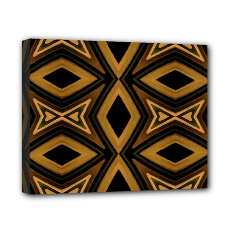 Tribal Diamonds Pattern Brown Colors Abstract Design Canvas 10  x 8  (Framed)