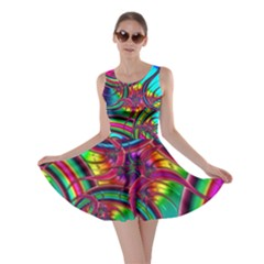 Feathery Abstract Skater Dress