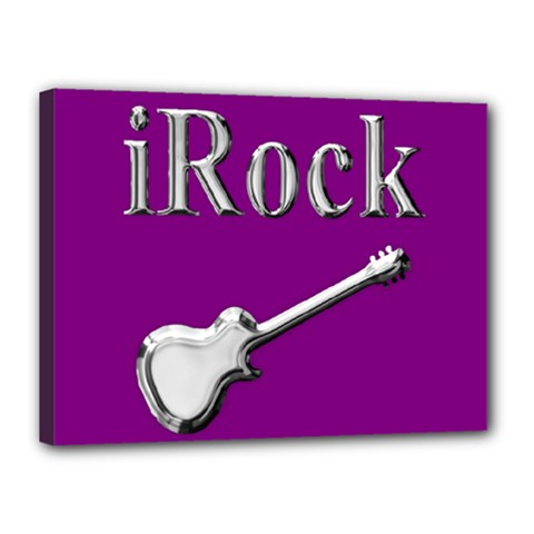 Irock Canvas 16  X 12  (framed)