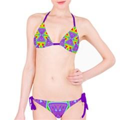 Trippy Rainbow Triangles Bikini
