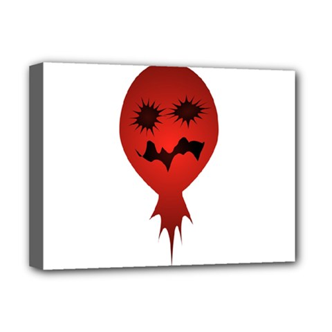 Evil Face Vector Illustration Deluxe Canvas 16  x 12  (Framed)